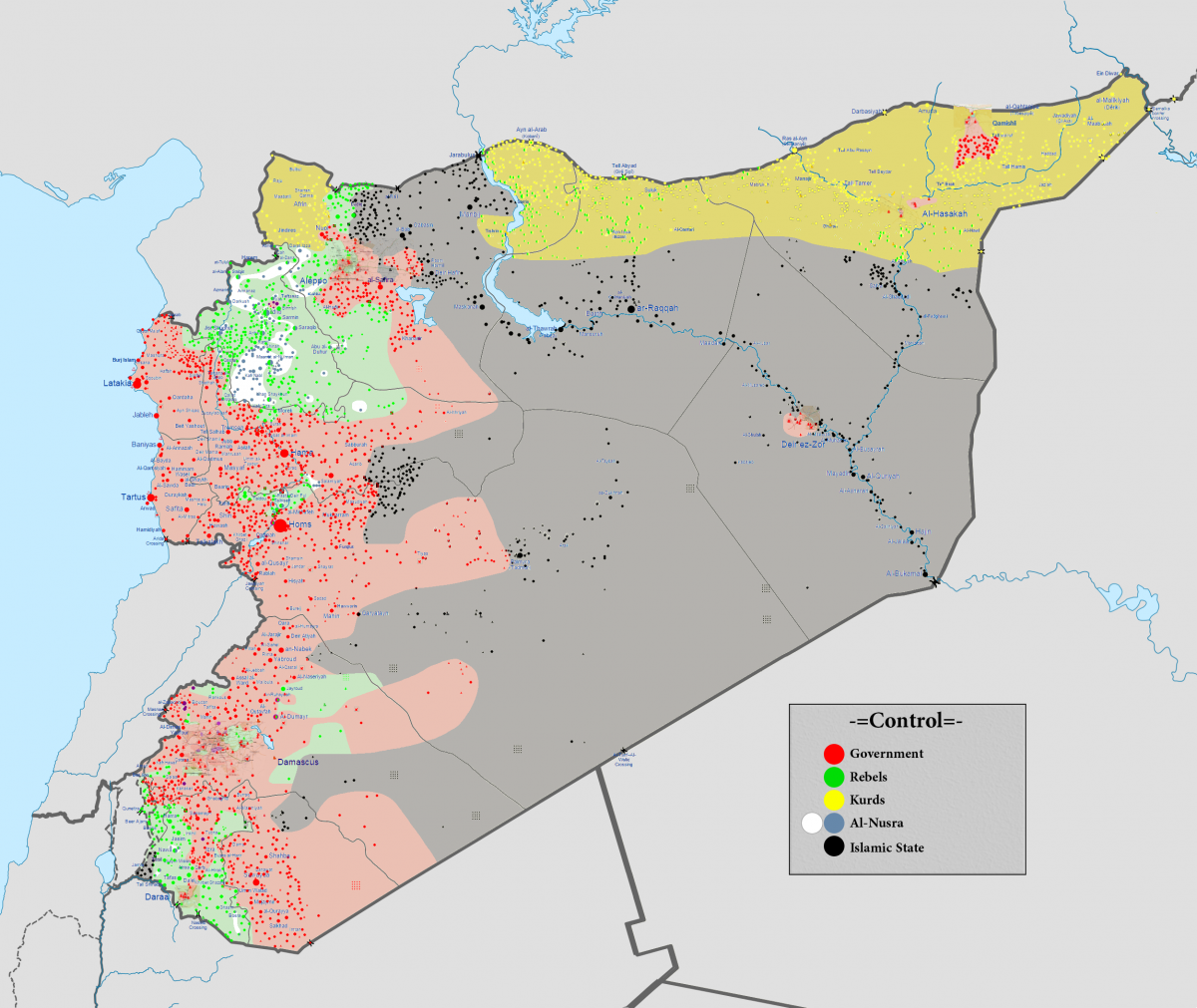 Syria Civil War map 8 February 2016