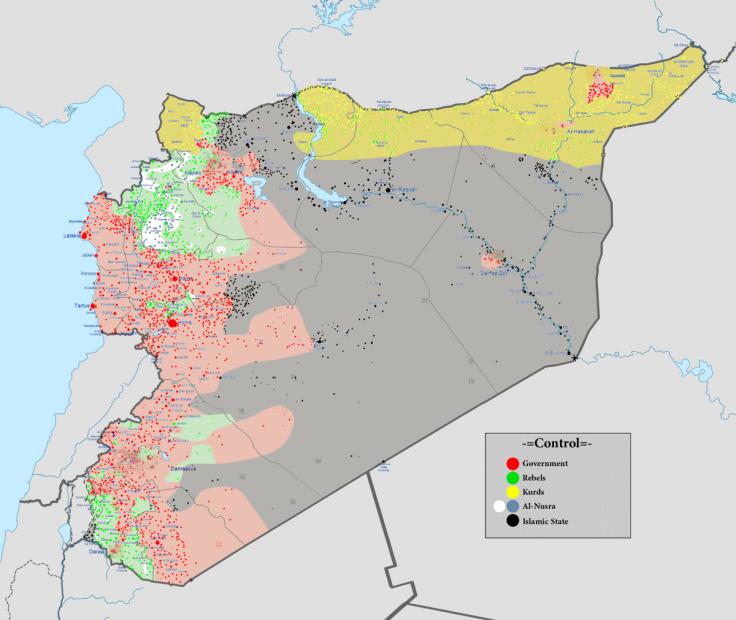 Syria Civil War map 8 February 2016