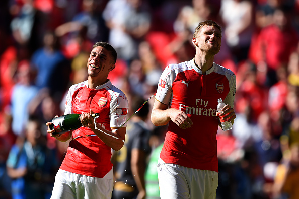 Per Mertesacker and Gabriel