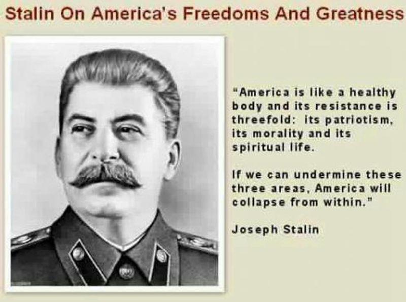 Stalin Facebook meme