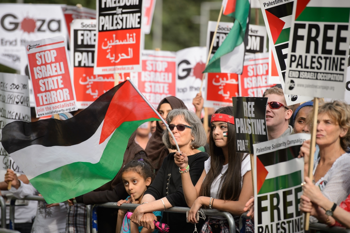 Pro-Palestinian protest in London