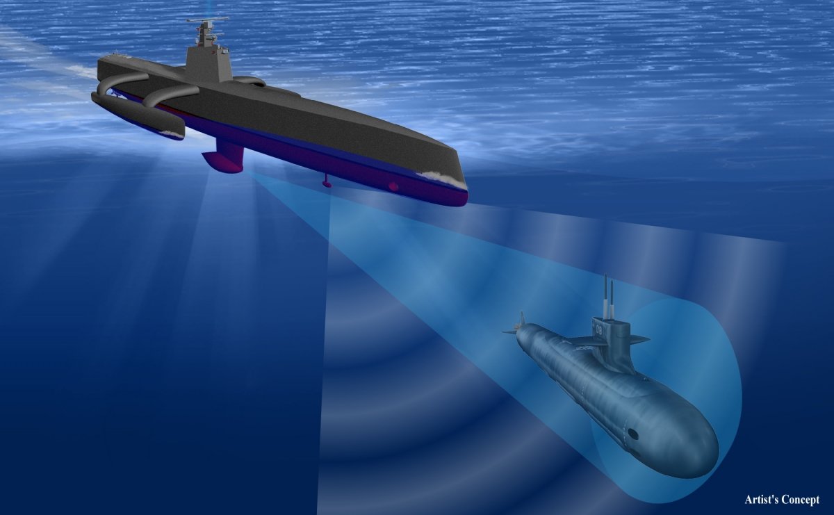 Anti-Submarine warfare Continuous Trail Unmanned Vessel