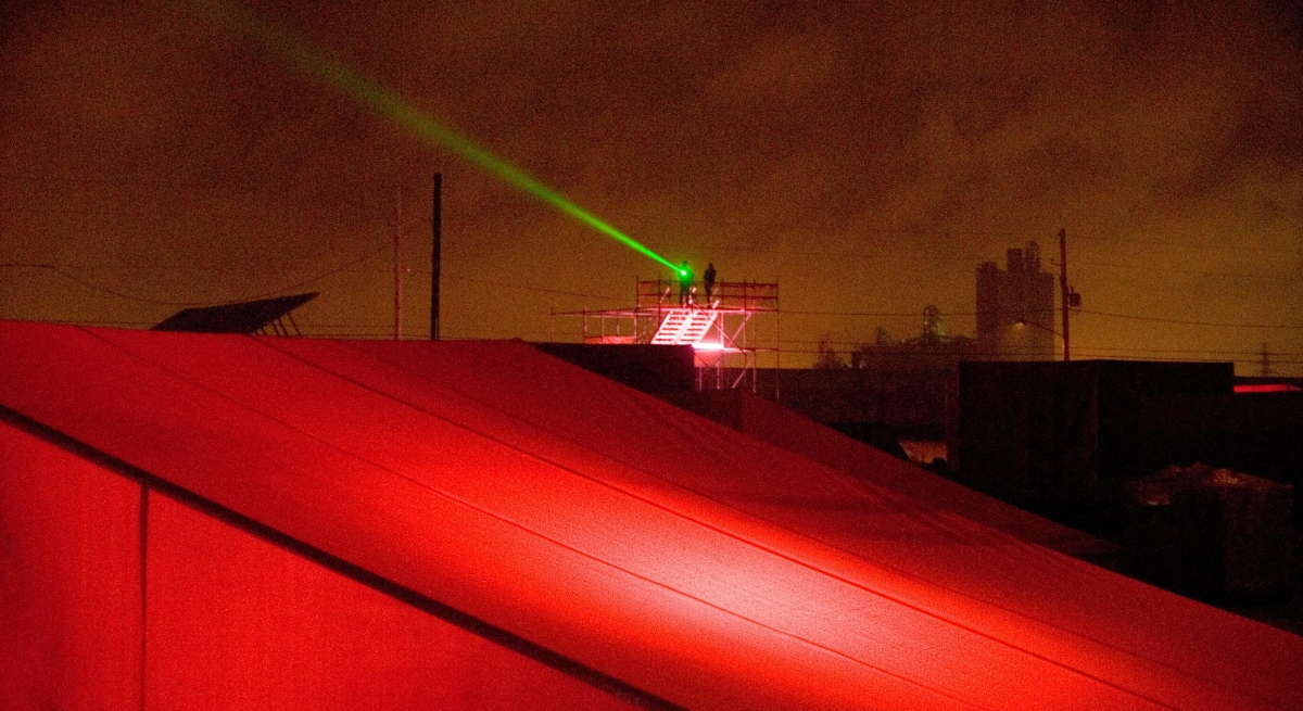 Laser used for a commercial project intheUS