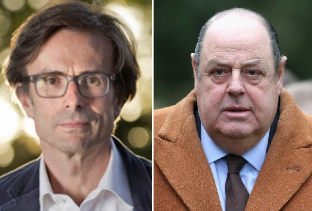 Robert Peston and Nicholas Soames