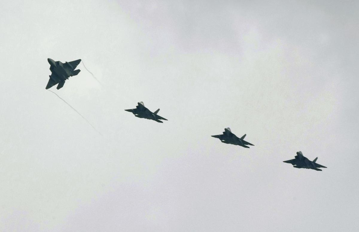US F-22 stealth fighter jets North Korea