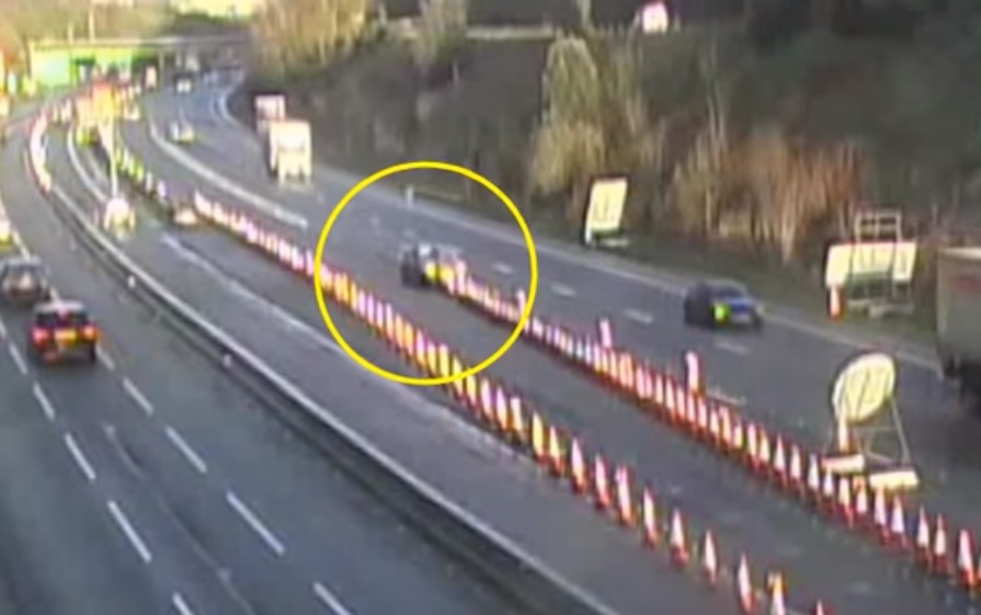 Plymouth Pile Up Video Shows A38 Motorist Ploughing