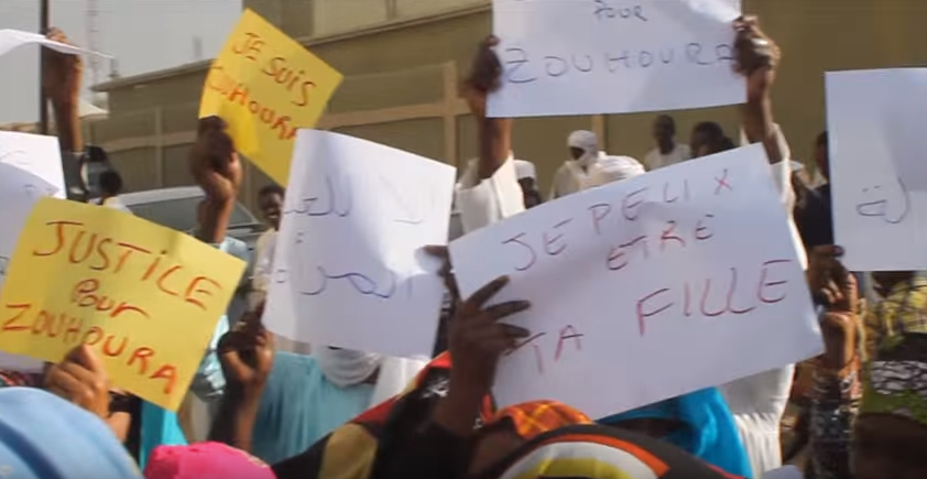Protesters gather to support 'Zouhoura'