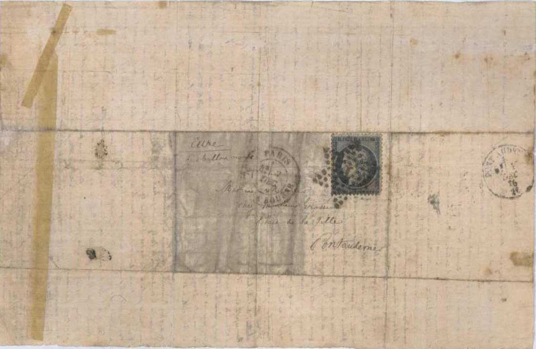 Letter from 1870 Franco-Prussian War