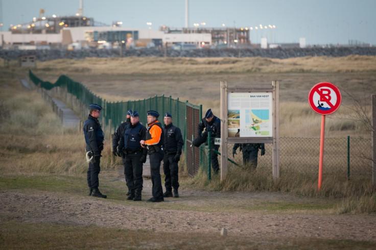 Refugees in Zeebrugge, Belgium