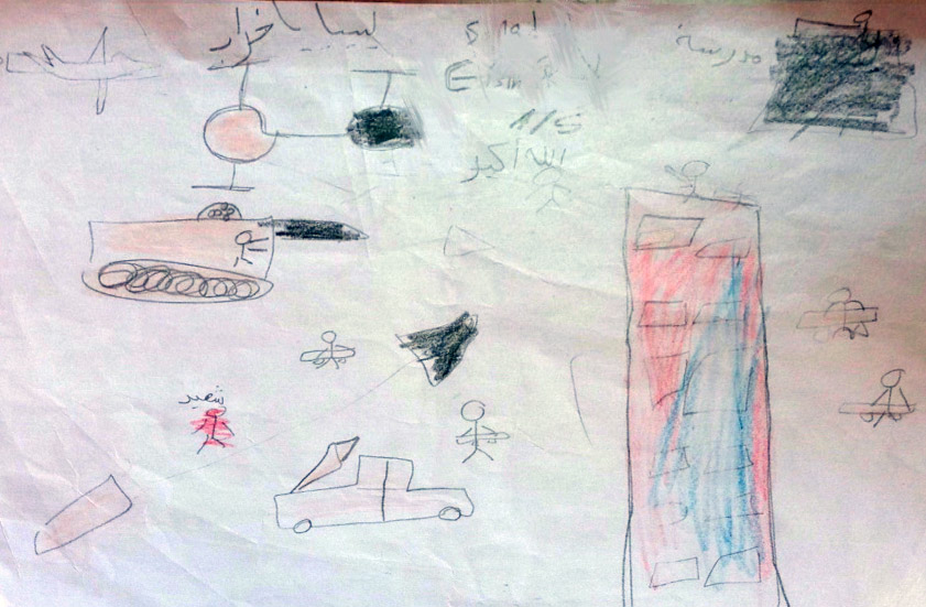 Children's drawings from Benghazi