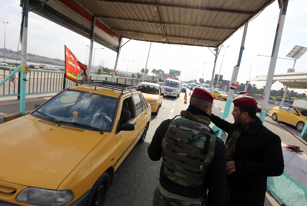Iraqi security forces searchi9ng for