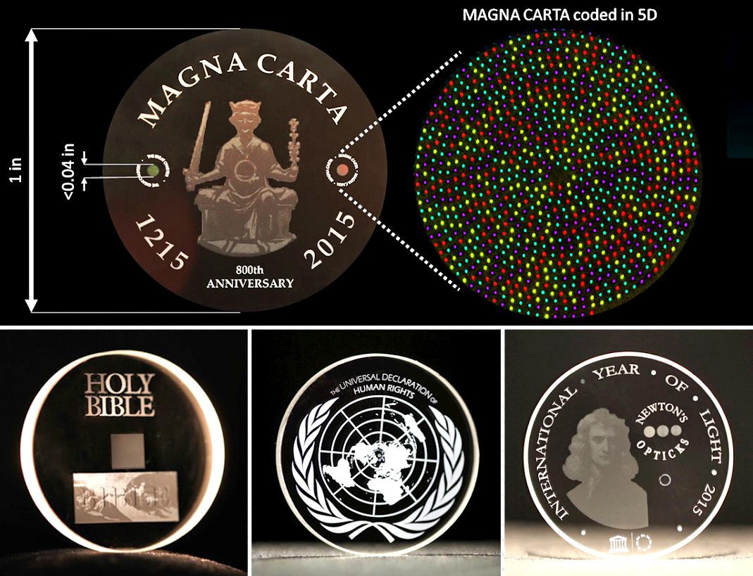Magna Carta, King James Bible on glass