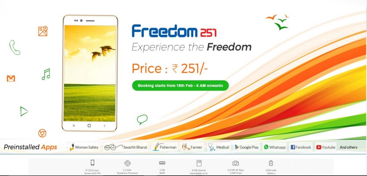 Freedom 251: World's cheapest smartphone shipment starts ...