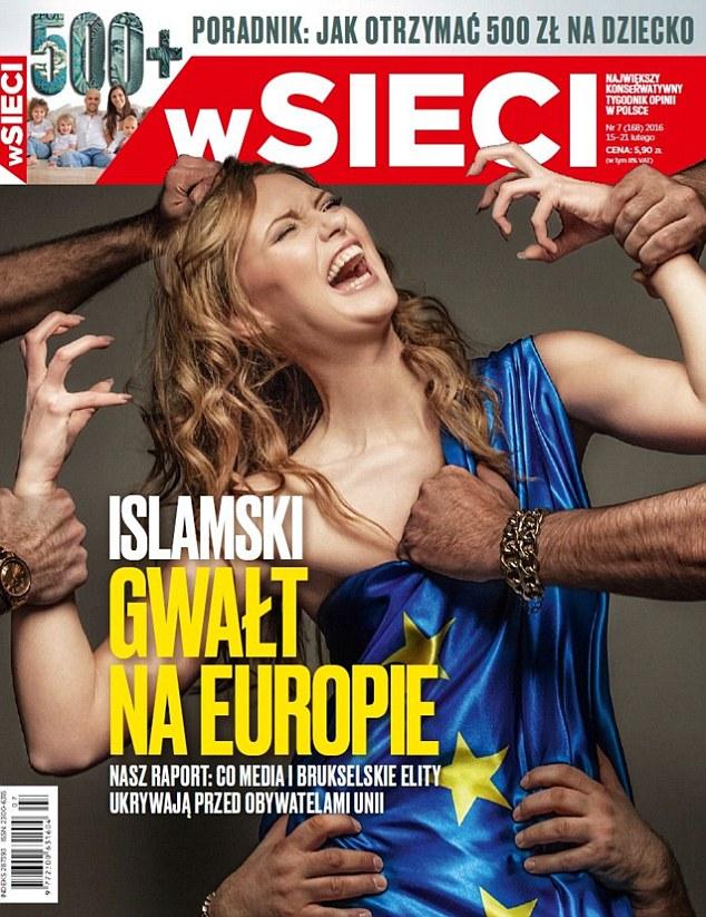 Polish Magazine Depicting Islamic Rape Of Europe Causes -2983