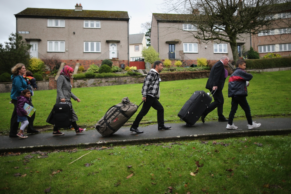 Syrian refugees arrive in Scotland