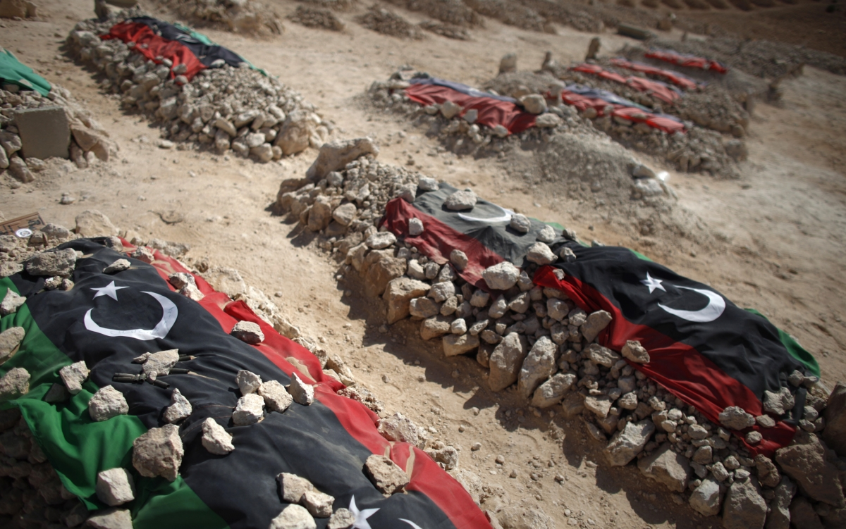 The graves of Libyan rebels