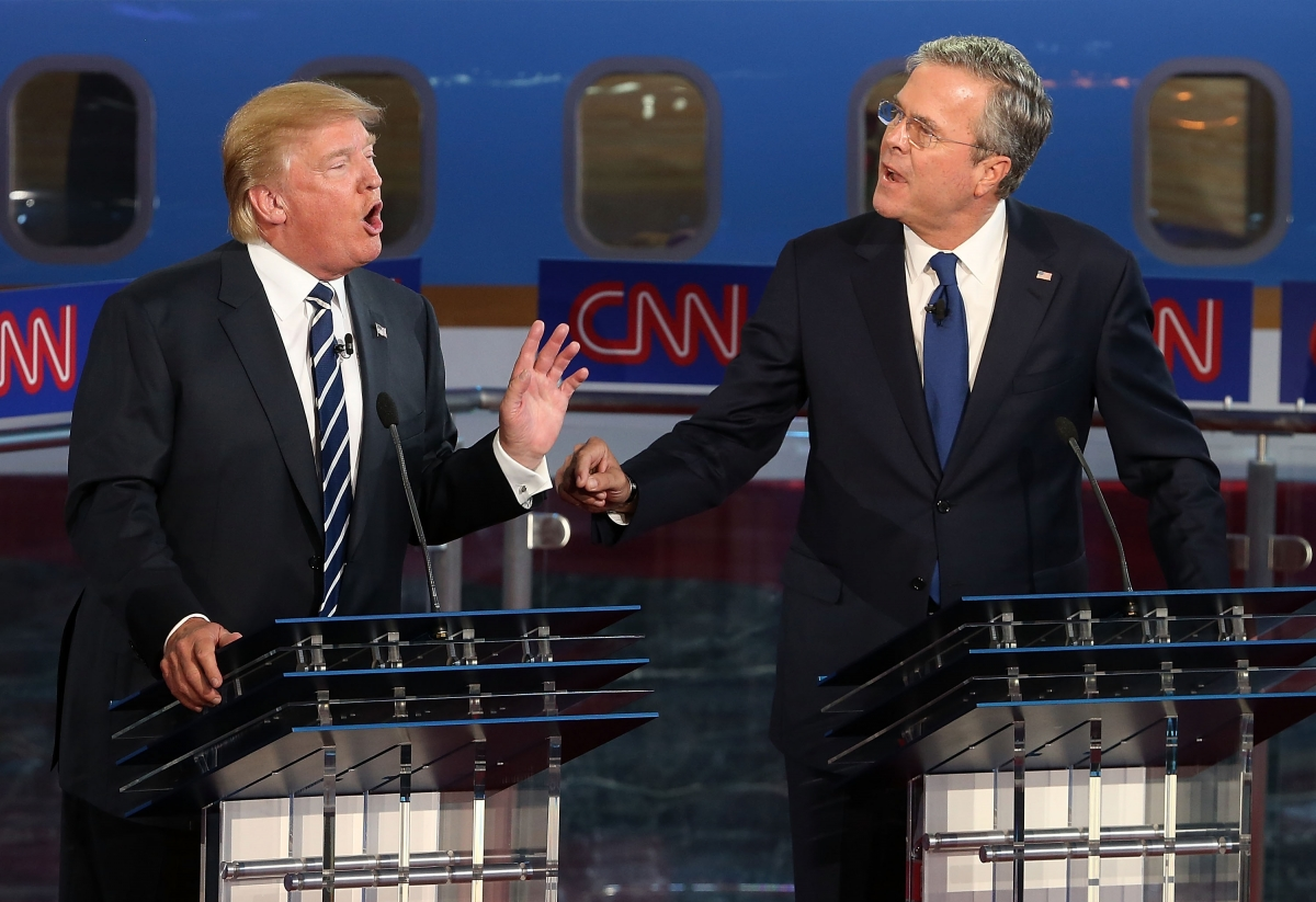 Bush the Donald Stop lies to Jeb distractions Trump: and