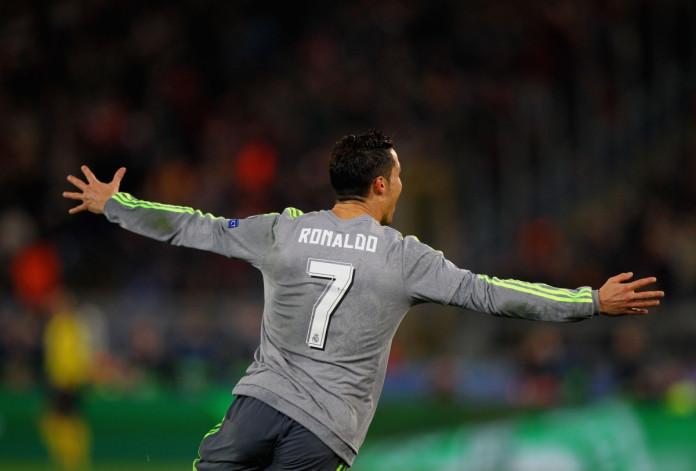 Cristiano Ronaldo celebrates in Rome