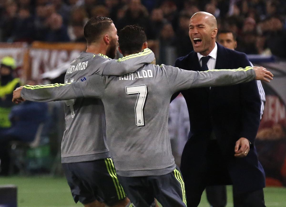 Sergio Ramos, Cristiano Ronaldo & Zinedine Zidane