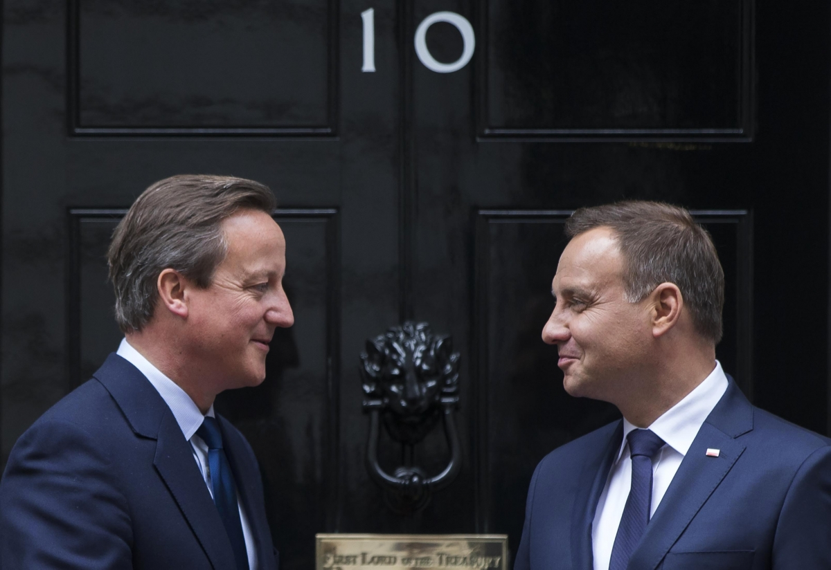 Cameron and Polish president