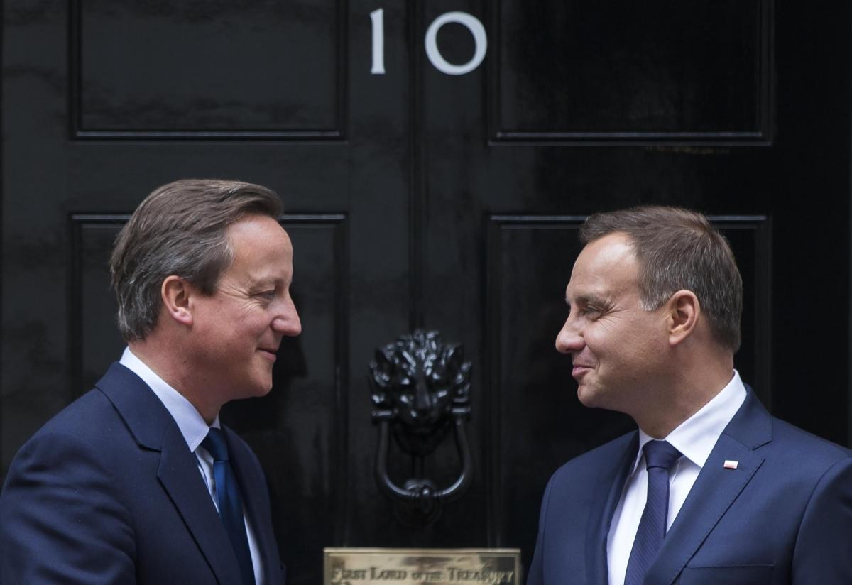 Cameron and Polish president