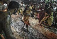 Fire walking among Hindus