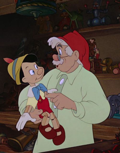 Pinocchio and Gepetto