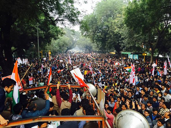 Students protest against BJP government