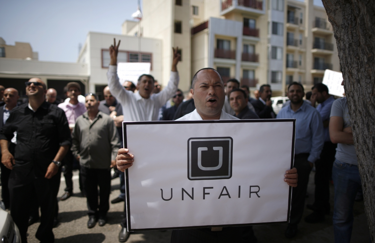 Uber drivers protest in the US