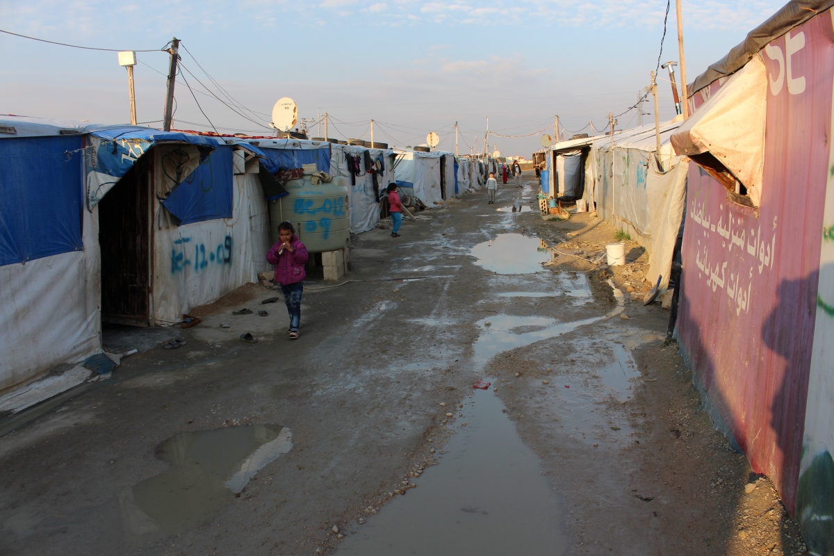 Bekaa Valley refugee settlement