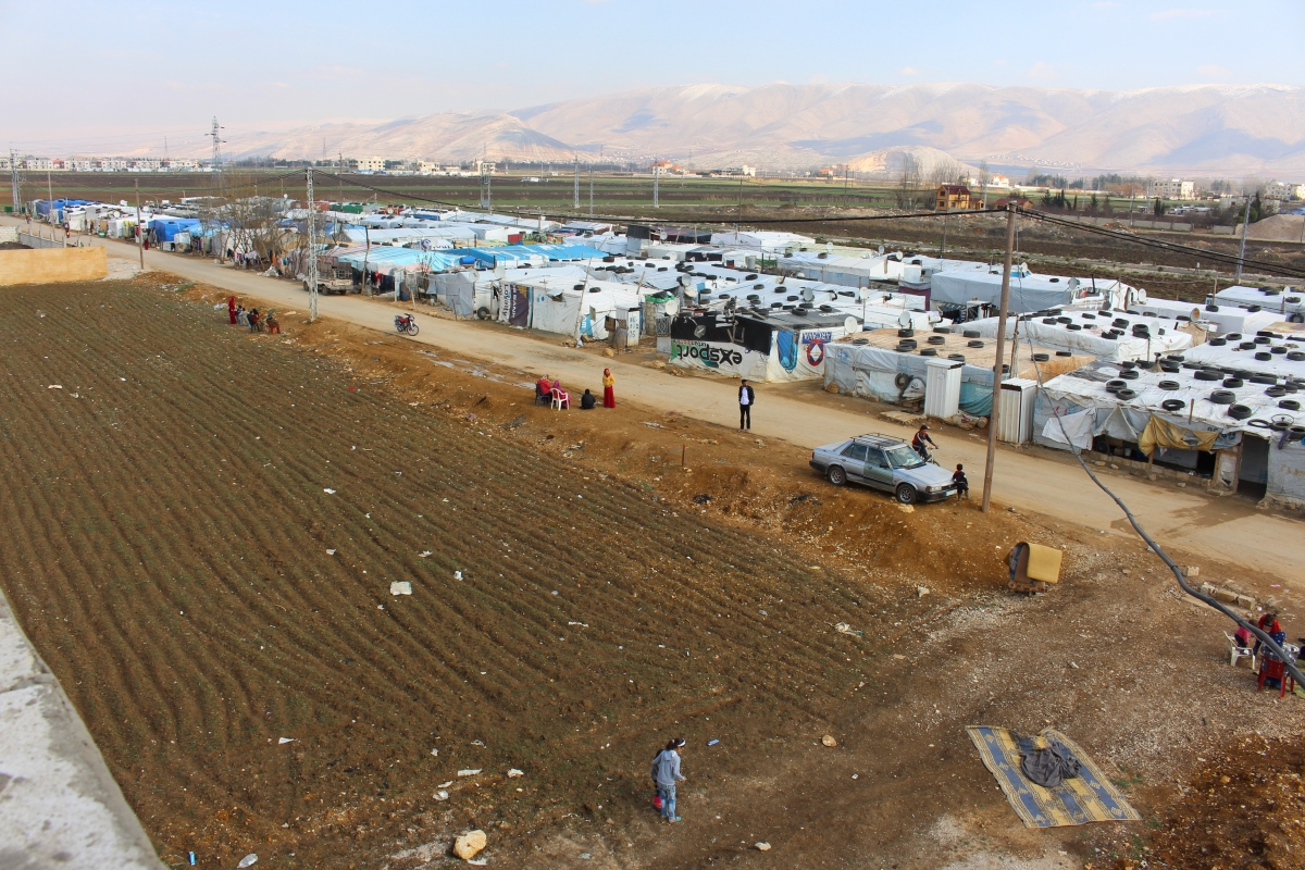 General view of a refugee settlement