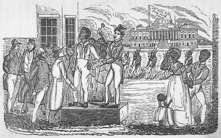 South Carolina slave auction