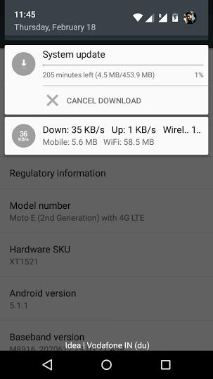 Moto E Marshmallow update