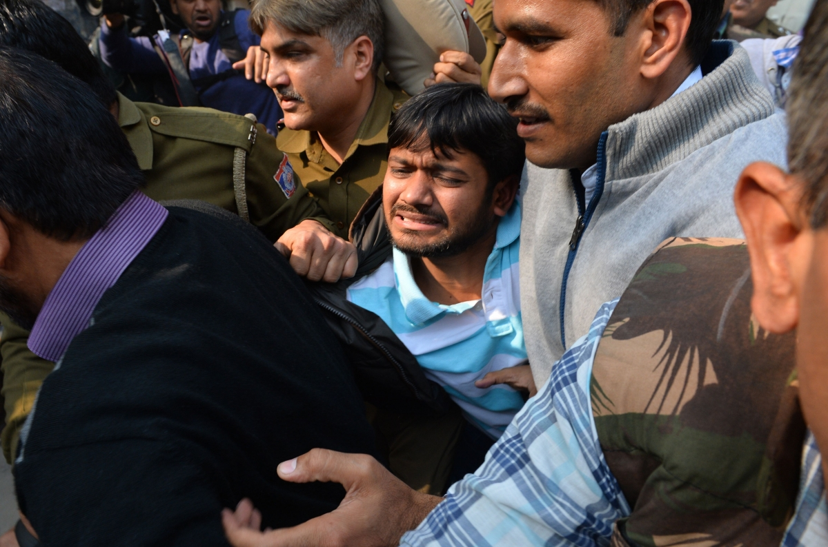 Kanhaiya Kumar at Patiala House