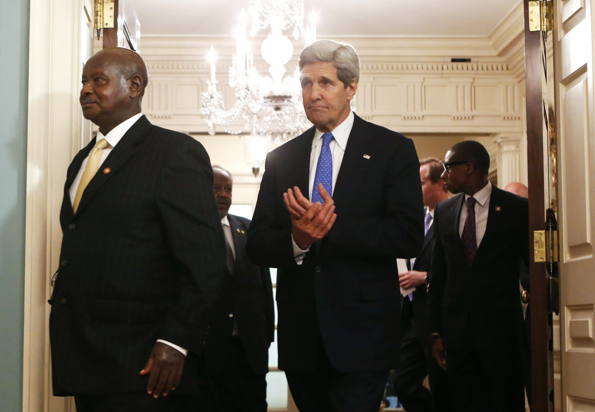 Secretary John Kerry and Yoweri Museveni
