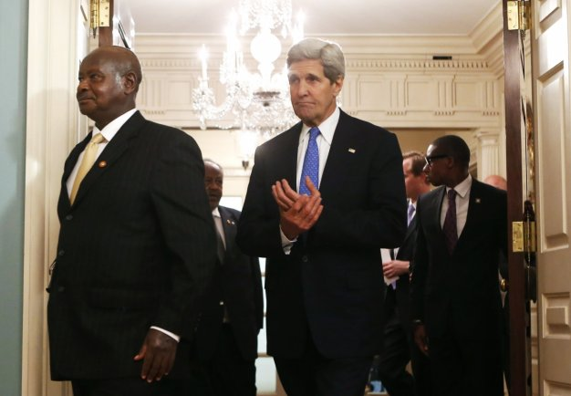 Secretary John Kerry and Yoweri Museveni