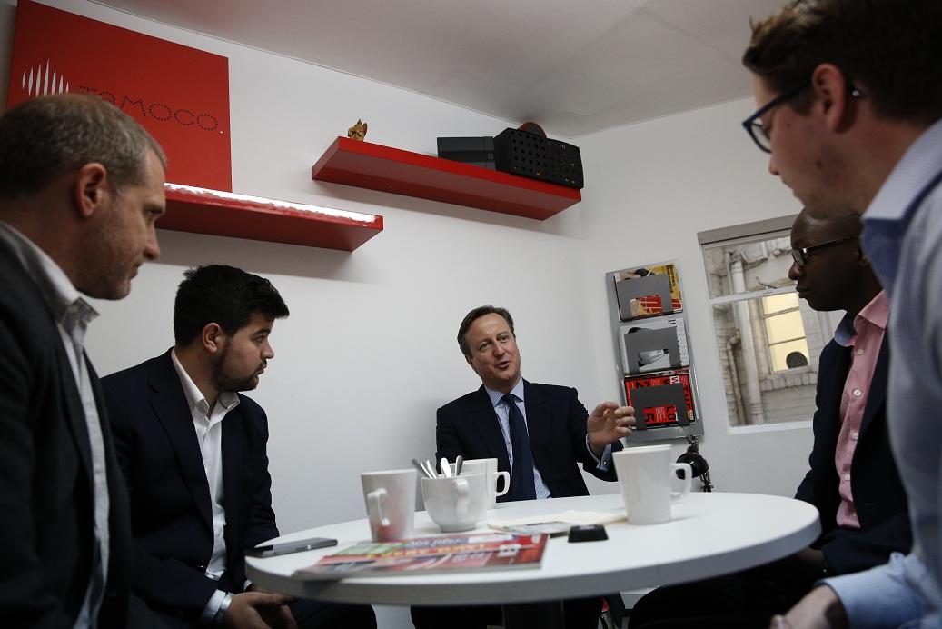 David Cameron in Tech City