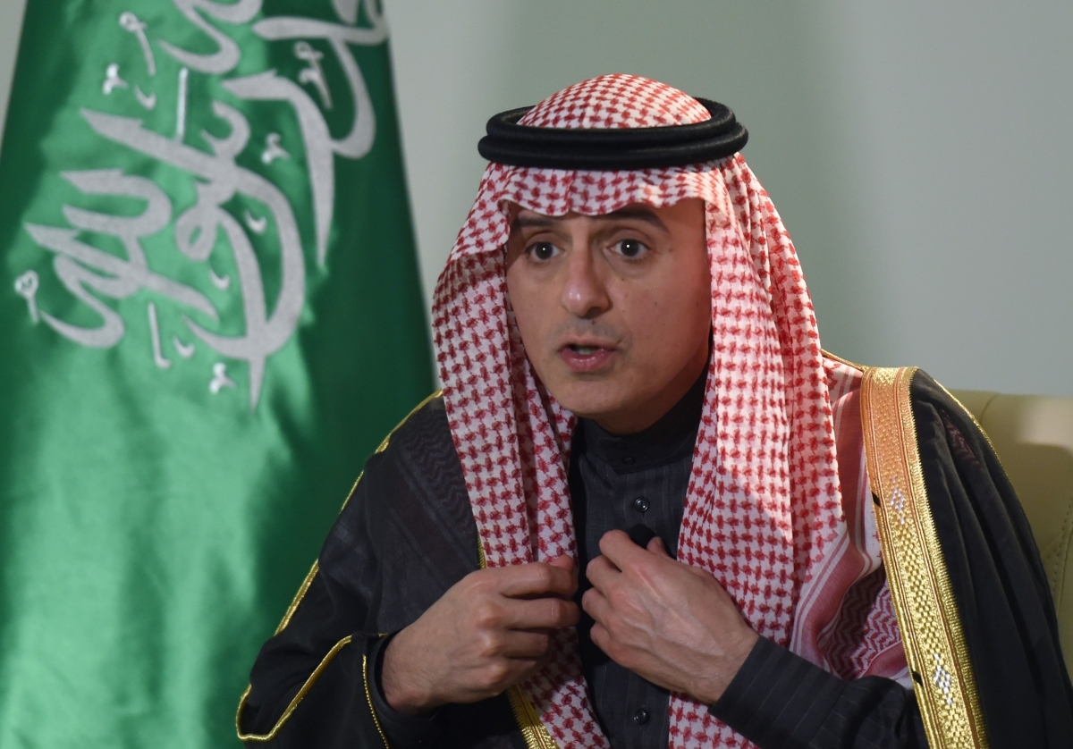 Saudi foreign minister Adel al-Jubeir supports providing