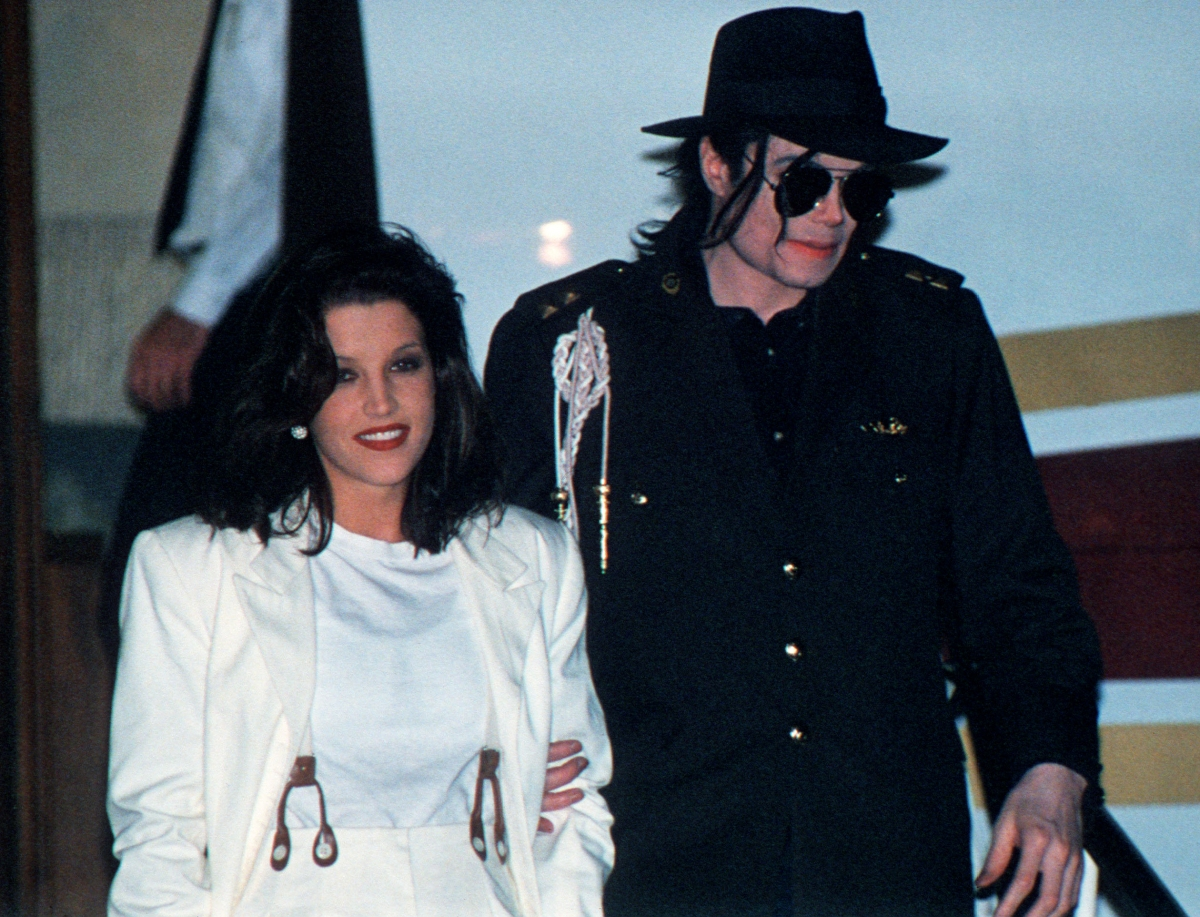 Michael Jackson and Lisa-Marie Presley