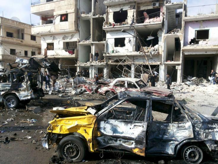 Homs car blast