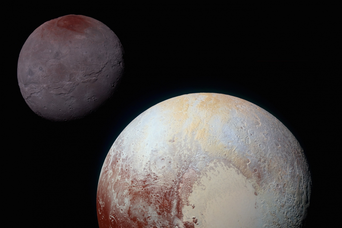 Pluto and Charon taken by New Horizons