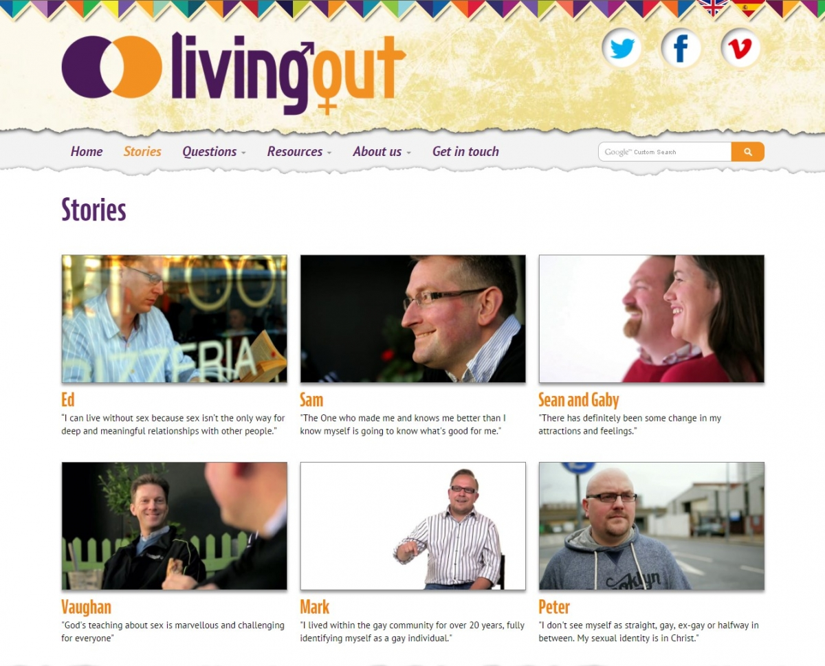 Living Out website