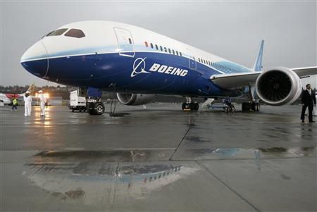 File photo of the Boeing 787 Dreamliner on the tarmac at Boeing Field in Seattle Washington after its maiden flight