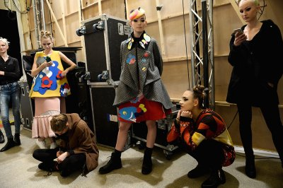 London Fashion Week 2016 backstage