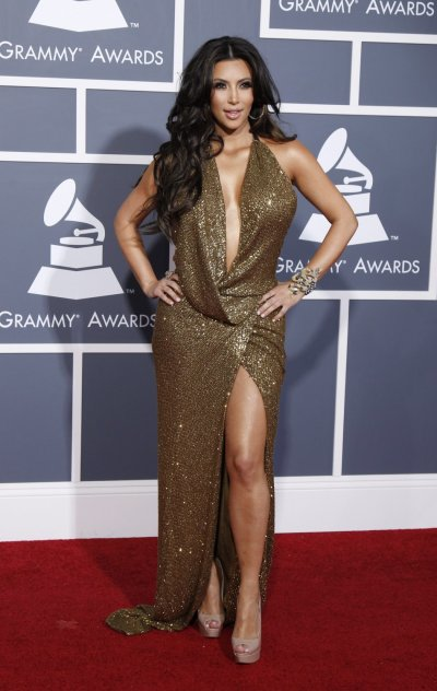 Kim Kardashian arrives at the 53rd annual Grammy Awards in Los Angeles, California February 13, 2011
