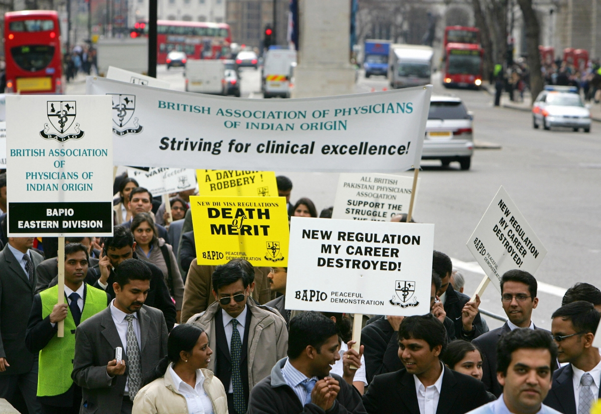 Indian doctors protest