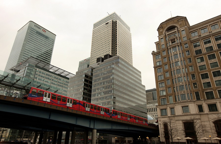 DLR at Canary Wharf