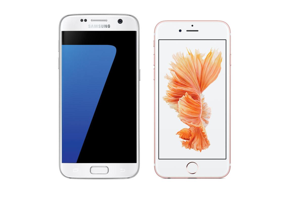 Samsung S7 iPhone 6s