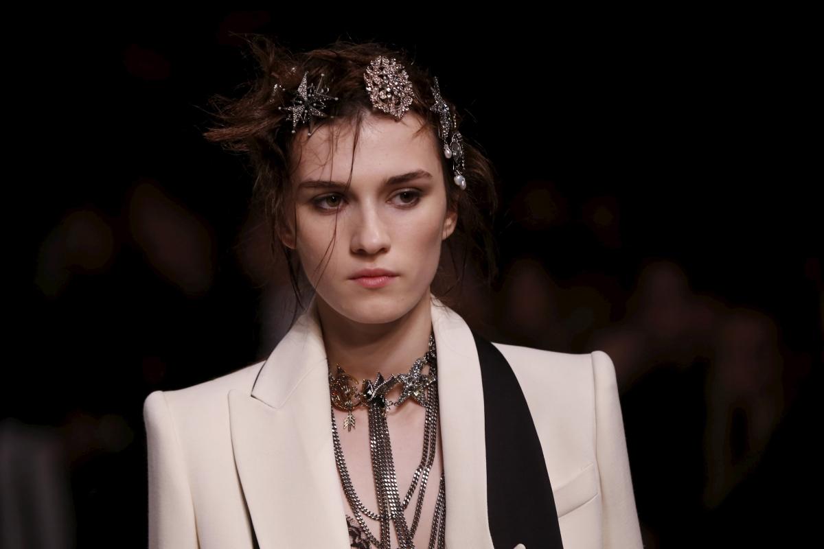 Model for Alexander McQueen