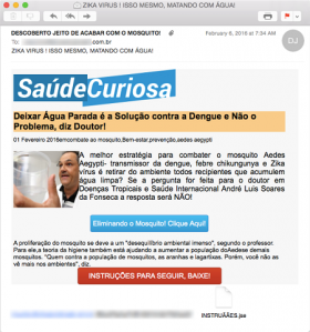 Saude Curiosa website spam